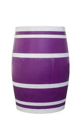 Violettes Holzfass