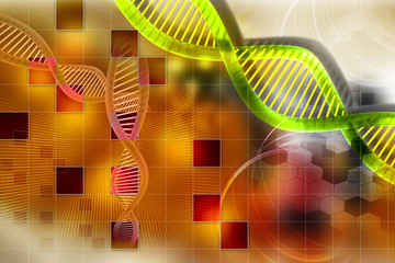 Digital color background of dna