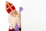 Sinterklaas with whiteboard