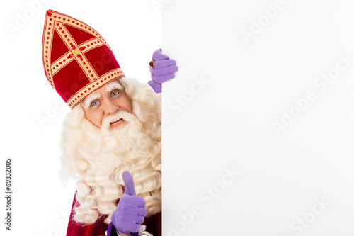 Sinterklaas with whiteboard - 69332005