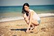 woman rest on a beach