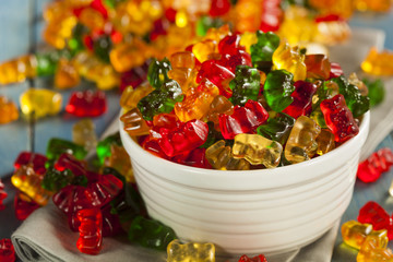 Colorful Fruity Gummy Bears