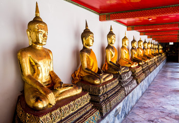 Buddha image at Wat Pho in thailand