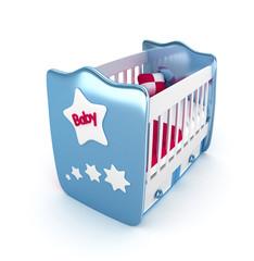 baby crib blue