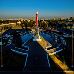 """Soviet rocket """"Vostok"""" in VDNH exhibition"""