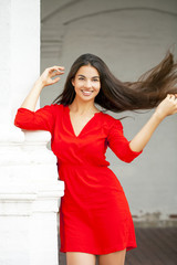 Young beautiful happy woman