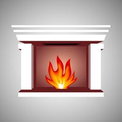 Fireplace symbol