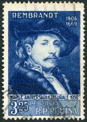 ROMANIA - 1956: shows Rembrandt (1606-1669), Painter