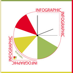 Infographic from color segments and hours.