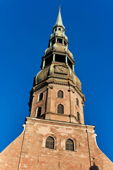 A church of Saint Peter  in Riga