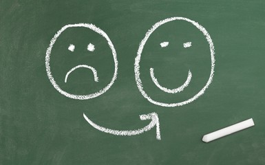 Unzufrieden vs. Zufrieden