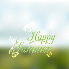 Vector unfocused summer travel background