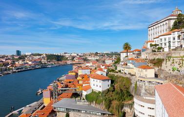 Fishing quarter Ribeira in the city of Porto, Portugal