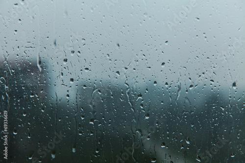 rain on glass - 69336619