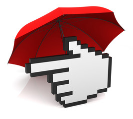 Hand Cursor with Umbrella