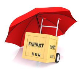 Hand Truck Export Box and Umbrella