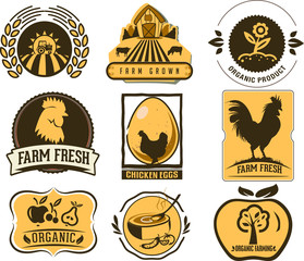 Farm and Organic Food icons