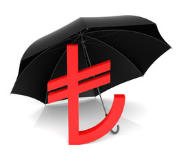 TL Symbol with Red Umbrella