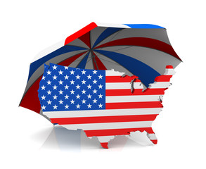 USA Map + Umbrella