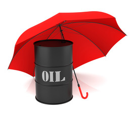 Oil Barrel and Umbrella