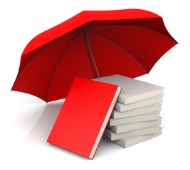 Red Book with Red Umbrella