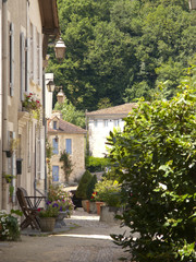 Lane and buildings in St Jean de Cole, Dordogne, France