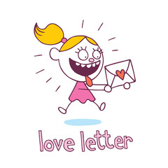 love letter little girl in love