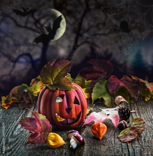 canvas print picture Halloween Pumpkin scary
