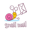 snail mail cartoon character - 69338859