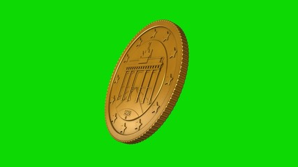 50 Cent Münze drehend