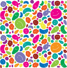 Funny Microbes Background