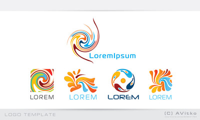 Logo templates, vector, abstract