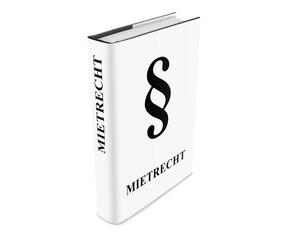 Buch Mietrecht white stehend