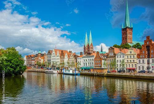 Aluminium Oude gebouw Lübeck - an der Obertrave