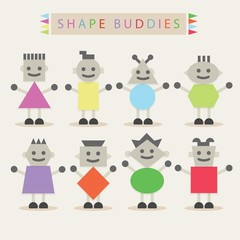 Shaped body buddies - Set of basic shapes characters