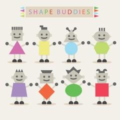 Shaped body buddies - Set of basic shapes characters