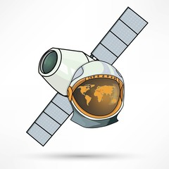 satellite station astronaut icon
