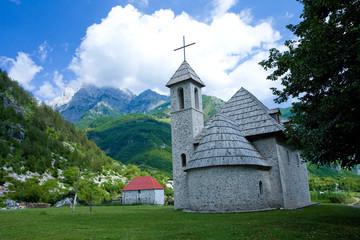 Eglise de Theth, Village catholique, Albanie