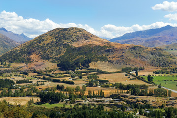 rural landscape in New Zealand