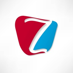 Abstract icon based on the letter Z