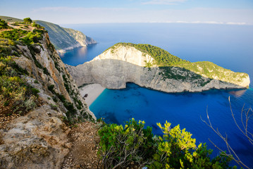 Navagio Bay view