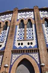 Detail of the Monumental bullring in Barcelona.