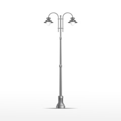Vector Street Lamp Isolated on White Background