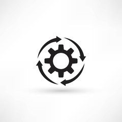 Cogs - vector icon