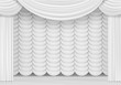 Vector Scene with White Curtains - 69344211