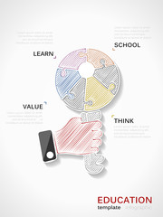 Education hand draw illustration