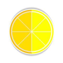 Illustration of Lemon Orange Fruit Flat Icon yellow ripe lemon