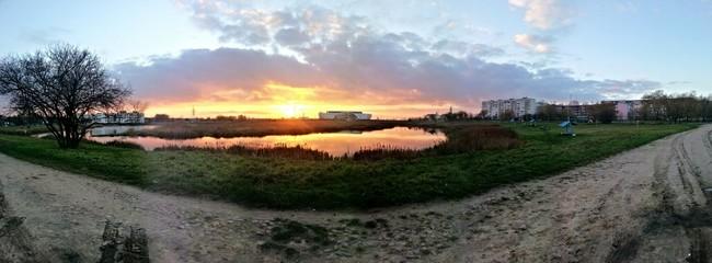 Закат в г.Барановичи, Беларусь