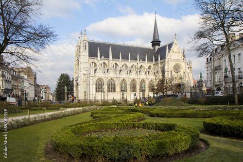 canvas print picture Брюссель. Церковь «Пресвятой Девы Марии на Песке».