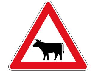 Gefahrzeichen: Vieh